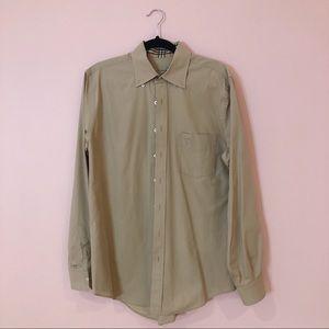 Burberry Beige Long Sleeve Button Down Shirt